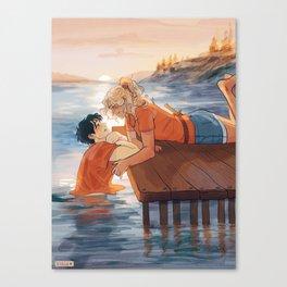 at the shore Canvas Print