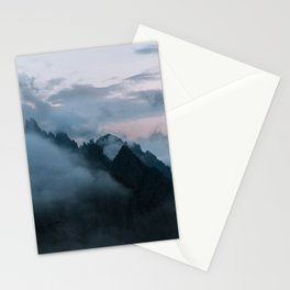 Dolomite Mountains Sunset covered in Clouds - Landscape Photography Stationery Cards