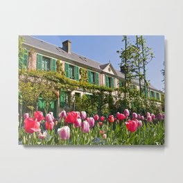 Claude Monet's House at Giverny Metal Print
