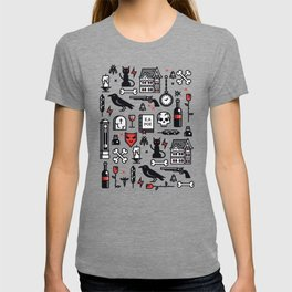 Edgar Poe Pattern T-shirt