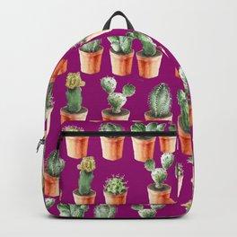 Watercolor cactus and hedgehog friend Backpack