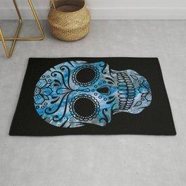 Blue Lace Sugar Skull Rug
