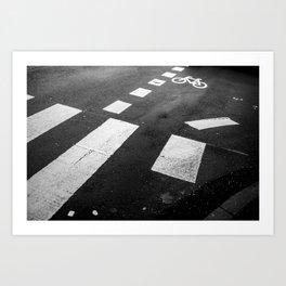 Black and white - Pedestrian crossing Kunstdrucke