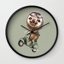 RUNAWAY SLOTH Wall Clock