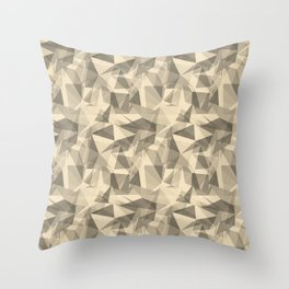 Abstract Geometrical Triangle Patterns 3 Valspar America Wood Yellow - Homey Cream - Glow Home Throw Pillow