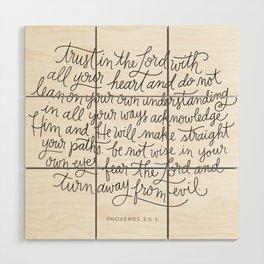 Straight Paths Wood Wall Art