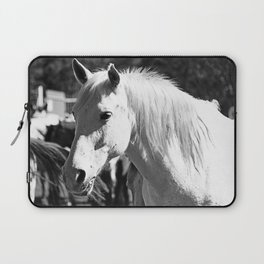 White Horse-B&W Laptop Sleeve