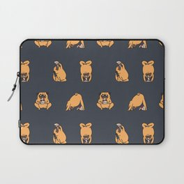 Pizza Yoga with The Pug Laptop Sleeve