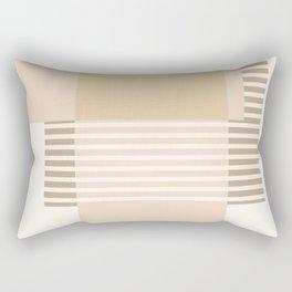 Marfa Abstract Geometric Print in Beige Rectangular Pillow