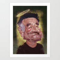robin williams Art Prints featuring Robin Williams by ideo