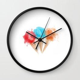 Splash Ice Cream Wall Clock