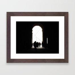 Sliver of Louvre Framed Art Print