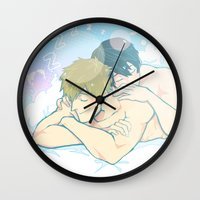 iwatobi Wall Clocks featuring Sleepy Days by Alyssa Tye
