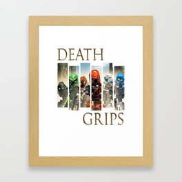 Death Grips - Bionicle Toa Mata Framed Art Print