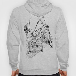 Bats, mom and child Hoody