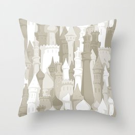 Sandcastles Throw Pillow