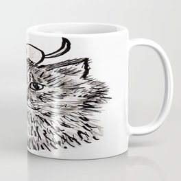 Grey Kitty and a Mouse Coffee Mug