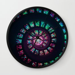 Coloured spiral glass Wall Clock
