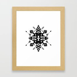 Tribal Black and White Framed Art Print