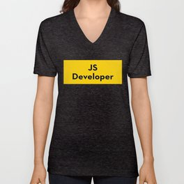 JS developer - javascript programming language Unisex V-Neck