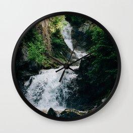 Lower Reid Falls Wall Clock