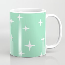 Mid Century Modern Star Pattern 443 Mint Green Coffee Mug