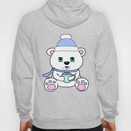 Polar Bear Drinking Hot Chocolate Hoody