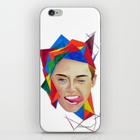 miley iPhone & iPod Skins featuring Miley by Mike Lampkin