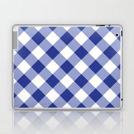 Gingham - Navy Laptop & iPad Skin