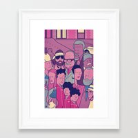 tenenbaums Framed Art Prints featuring The Royal Tenenbaums by Ale Giorgini