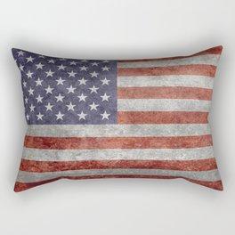 USA flag, retro style Rectangular Pillow