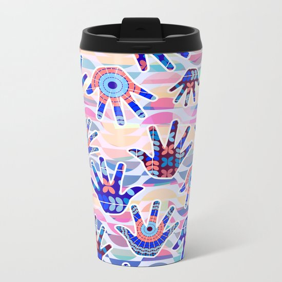 Colorful hands II Metal Travel Mug