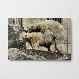 Let's make a polar bear baby Metal Print