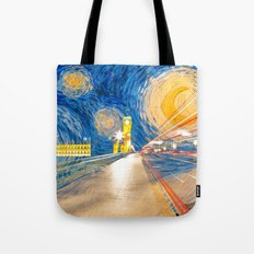 Starry London Night Tote Bag