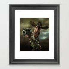 Rick Grimes from 'The Walking Dead'. Framed Art Print