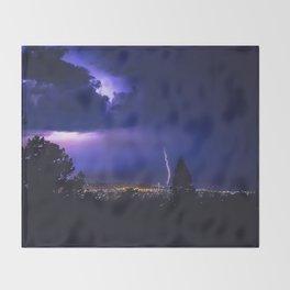 California Lightning Storm Throw Blanket