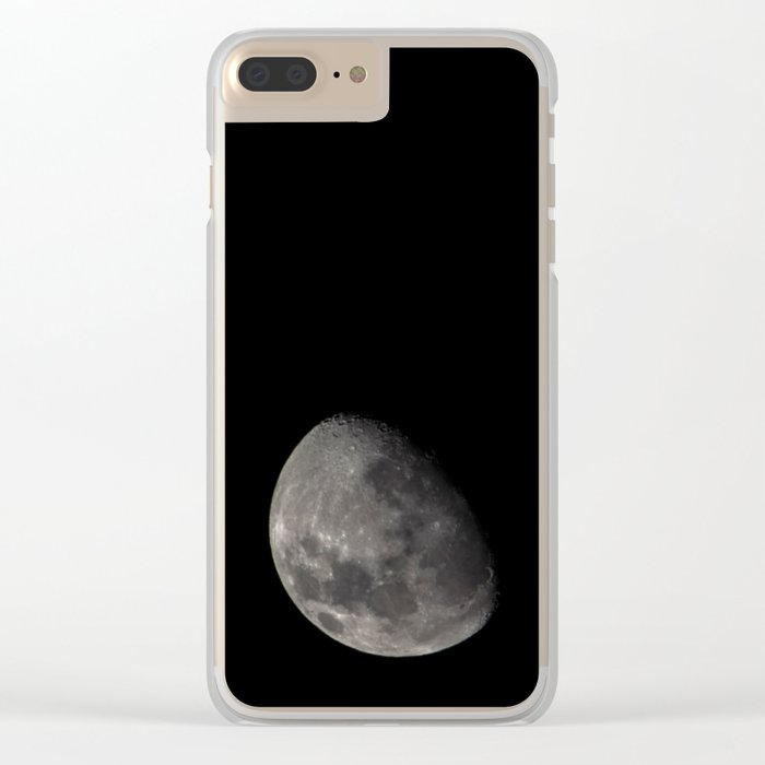 Quarter Moon Clear iPhone Case