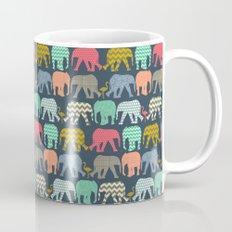 baby elephants and flamingos Mug
