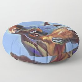 Blue Doberman Floor Pillow