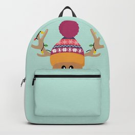 Rudolph Red Nosed Reindeer is looking at you Backpack
