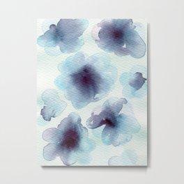 Blue cells Metal Print
