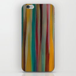 Colorful Acrylic Painting Paths iPhone Skin
