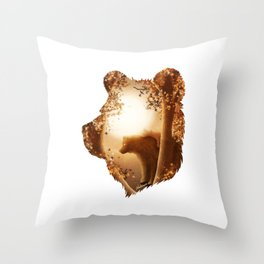 Bear Haven Throw Pillow