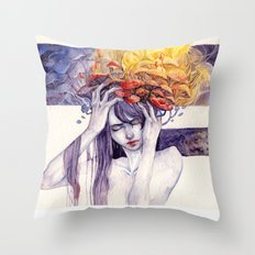 Sick Throw Pillow