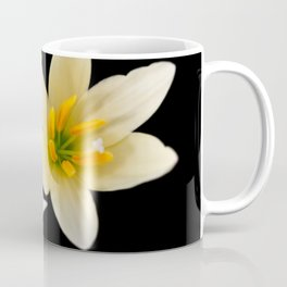 White flowers with black Coffee Mug