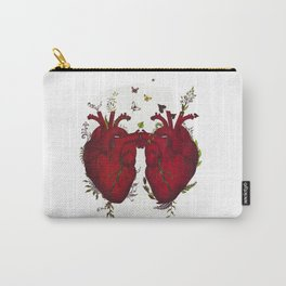 two hearts beating as one Carry-All Pouch