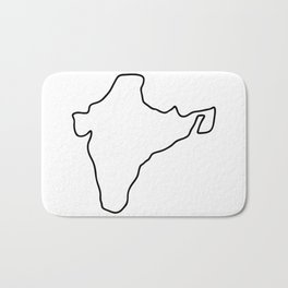 India Indian map Bath Mat