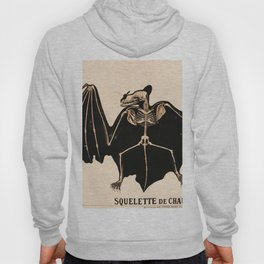 Vintage French zoological board - Bat skeleton Hoody