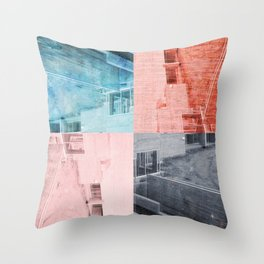 Popart Building Throw Pillow