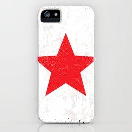 Red Grunge Star iPhone Case